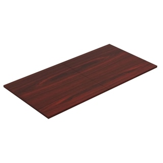 Lorell Chateau Series 8 ft. Mahogany Rectangular Conference Table Tabletop