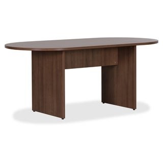 Lorell Essentials Series Walnut Oval Conference Table