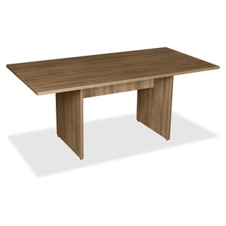 Lorell Rectangular Conference Table with 2-panel Walnut Base
