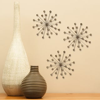 Stratton Home Decor Gold Burst Wall Decor (Set of 3)
