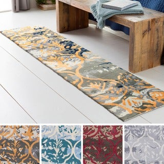 Hand-Tufted Linz Wool / Viscose Rug (2' x 8')