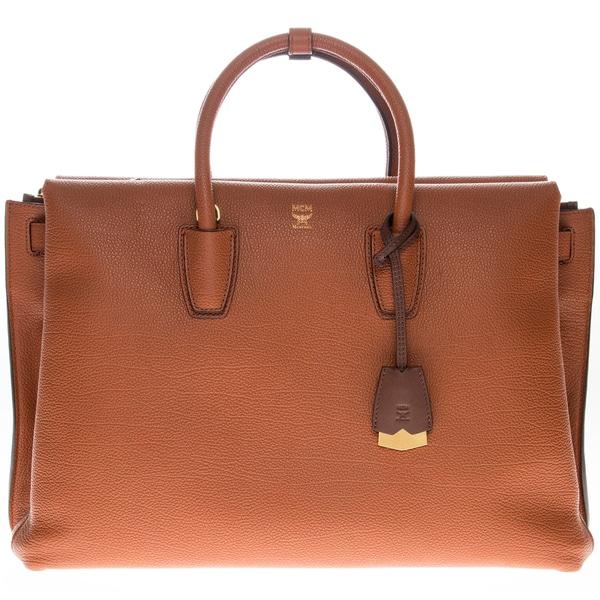 MCM Milla Brown Leather Tote Bag