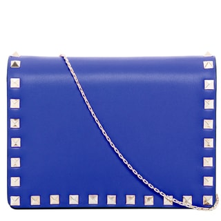 Valentino Blue Small Rockstud Shoulder Bag