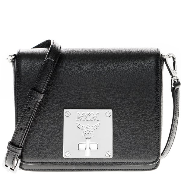 MCM Small Black Leather Mona Crossbody