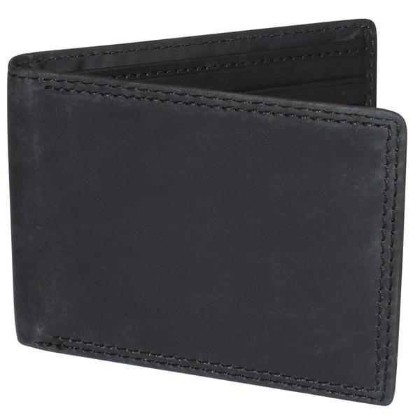 Buxton Leather RFID Slimfold