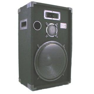 Podium Pro E1500C PA DJ Karaoke Home Pro Audio 15-inch Three Way Black Speaker