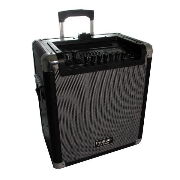 Podium Pro Audio MPA1000 Portable Battery Powered Speaker 1000 Watts with Bluetooth USB SD MP3