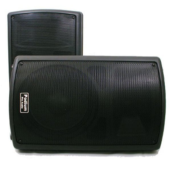 Podium Pro PP1002A 1 Pair of PA DJ Band Powered Active 10-inch Pro Audio 1000 Watts Speakers PP1002A-PR