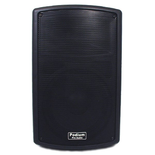 Podium Pro PP1002A Karaoke PA DJ Band Powered Active 10-inch Pro Audio 500 Watts Speaker