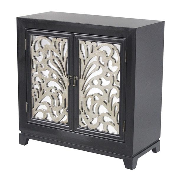 2-door Wood Cabinet w/Mirror