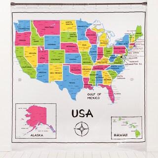 PEVA USA Map Shower Curtain