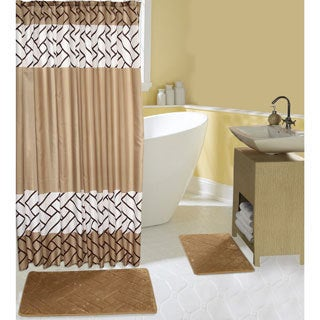 Taupe Rattan 16-piece Bath Set