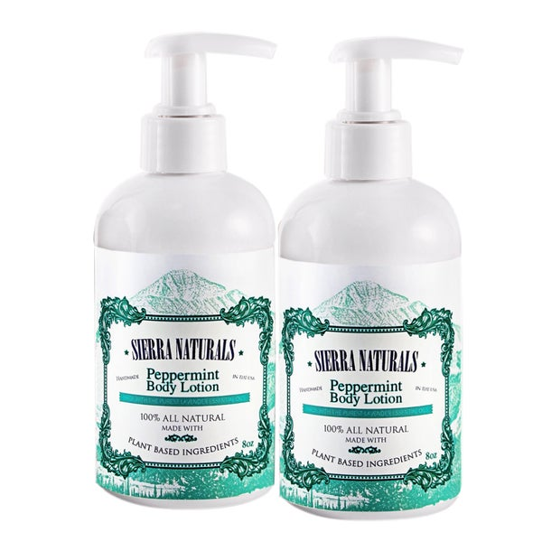 Sierra Naturals Handmade Organic Scented Peppermint Lotions (Set of 2)