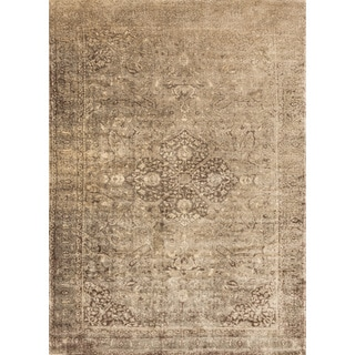 Francis Sand/ Dark Brown Rug (12'0 x 15'0)
