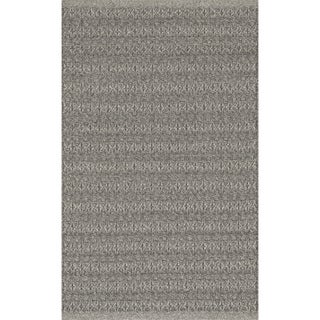 Indoor/ Outdoor Earth Tone Flatweave Graphite Rug (2'3 x 3'9)