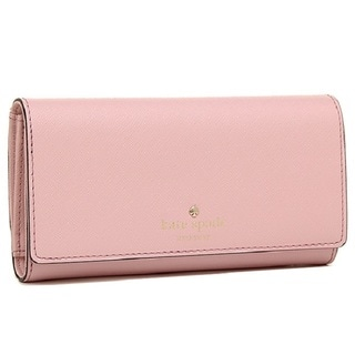 Kate Spade New York Nika Rose Jade Leather Tri-Fold Wallet