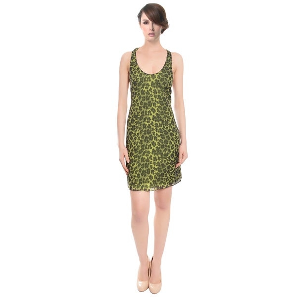 Alice and Olivia Leopard Print Silk Halter Cocktail Dress (Size M)