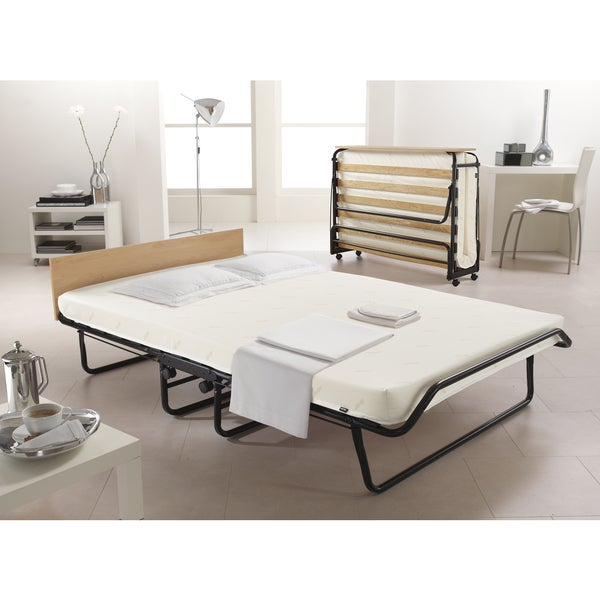 Jay-Be Contour Oversized Folding Bed with Memory Foam Mattress and Headboard