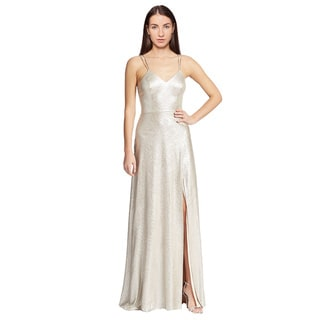 A.B.S. Metallic Slip V-Neck Evening Gown dress (Size 0)