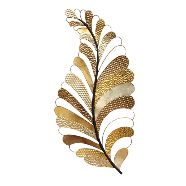 Stratton Home Decor Cut Out Gold Leaf Wall Decor