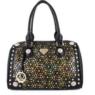Lany 'Flower Illision' Satchel Handbag