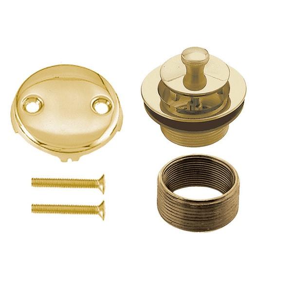 Westbrass PVD Polished Brass D94K-01 Twist and Close Universal Trim Set 2-Hole