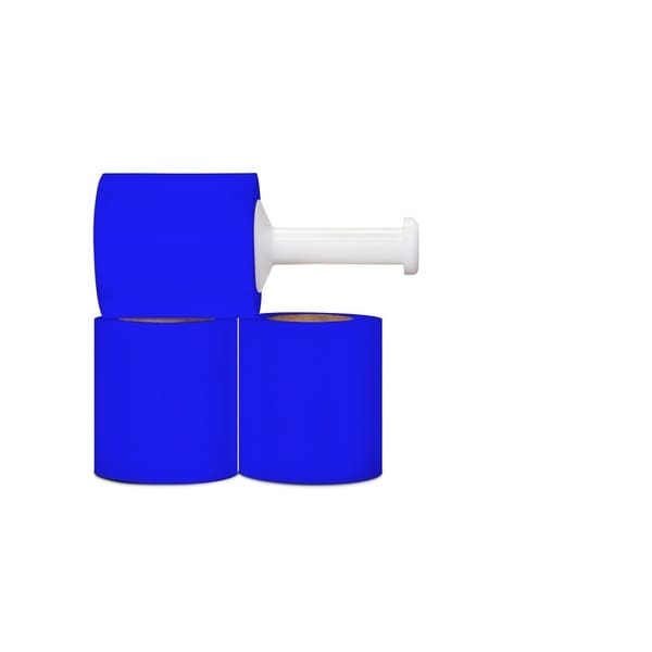 Narrow Banding 5-inch 80 Gauge 1000 Ft Blue Stretch Wrap Film 24 Rolls