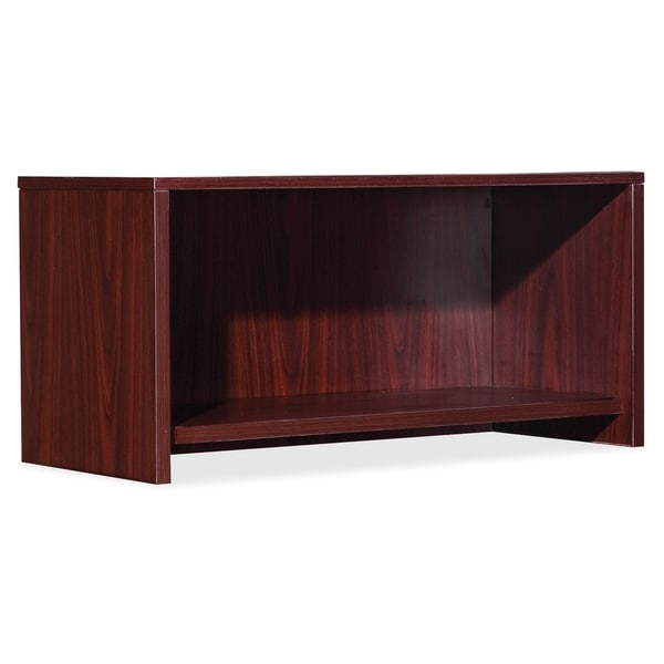 Lorell Essential Series Mahogany Wall Mount Hutch - (1/Each)