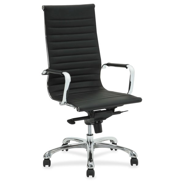 Lorell Modern Chair Series High-back Leather Chair - (1/Each)