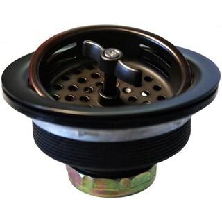 Westbrass Oil Rubbed Bronze D213-12 Wing Nut Basket Strainer