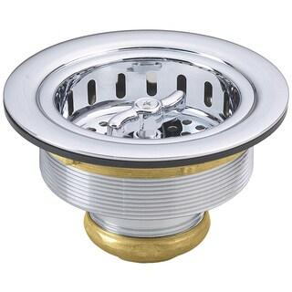 Westbrass Polished Chrome D213-26 Wing Nut Basket Strainer