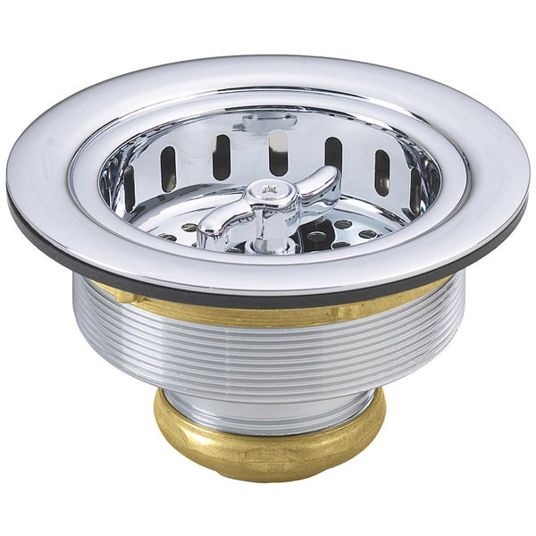 Westbrass Polished Chrome D213-26 Wing Nut Basket Strainer