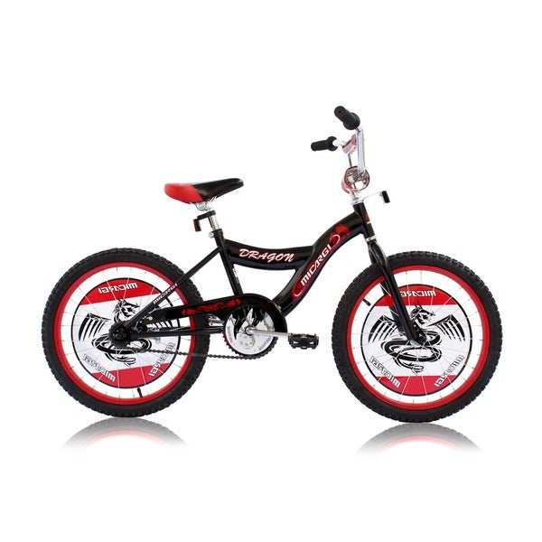 Boys Black 20-inch BMX Bicycle Dragon
