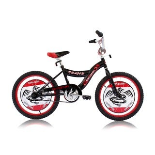 Boys Black 20-inch BMX Bicycle Dragon