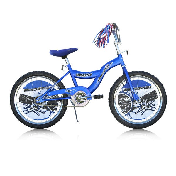 Boys Blue 20-inch BMX Bicycle Dragon