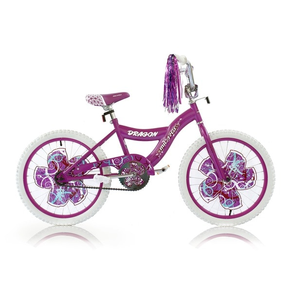 Girls Purple 20-inch BMX Bicycle Dragon