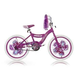 Girls Purple 20-inch BMX Bicycle Dragon