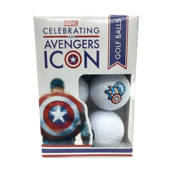 Marvel Captain America 75th Anniversary Golf Balls