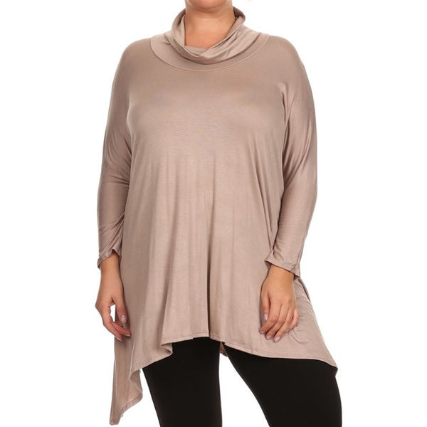 Plus Size Women's Cowl Neck Tunic