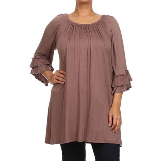 Plus Size Women's Trumpet Top