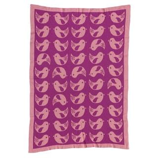 Lolli Living Mod Bird Mod Jacquard Knit Blanket