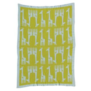 Lolli Living Mod Giraffe Mod Jacquard Knit Blanket