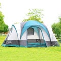 Semoo 7-Person 3-Room Family Tent with Large D-Style Door for Camping/ Traveling with Carry Bag