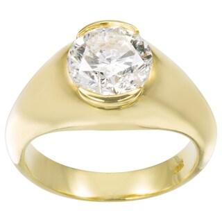 18k Yellow Gold 2 2/5ct TDW Diamond Estate Engagement Ring Size 6 (G-H, SI3)