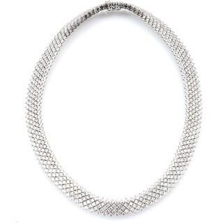 14k White Gold 23 1/4ct TDW Estate Choker Diamond Necklace (G-H, SI1-SI2)