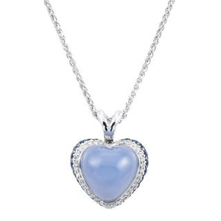 18k White Gold 1/4ct TDW Heart Estate Necklace (H-I, SI1-SI2)