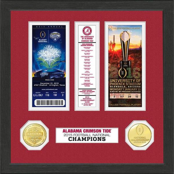 Alabama 2015 College Football National Champions Ticket Collection 17157933