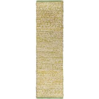 Hand-Woven CanadaOntario Cotton/ Seagrass Rug (2'6 x 8')