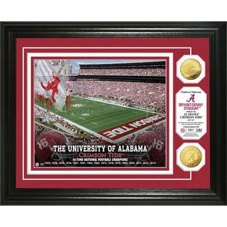 University of Alabama 16-time Football National Champions Gold Coin Photo Mint