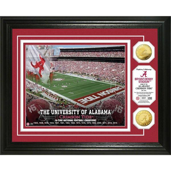 University of Alabama 16-time Football National Champions Gold Coin Photo Mint 17158033